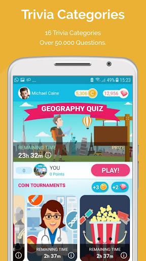 CASH QUIZZ REWARDS: Trivia Game, Free Gift Cards 3.2.18 screenshots 3