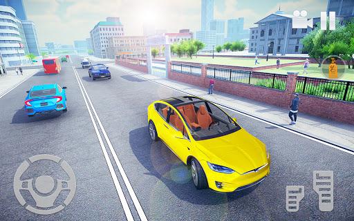 Electric Car Simulator 2021: City Driving Model X Apkfinish screenshots 8
