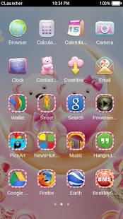 Cute Bear love  honey with Pink hearts DIY Theme 3.9.10 Screenshots 3