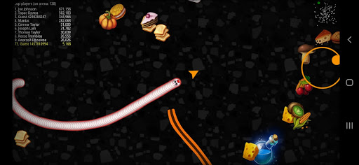 Worms Zone Snake Game apkpoly screenshots 6