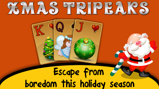 Xmas TriPeaks, card solitaire, tournament edition 5.10.31 screenshots 1
