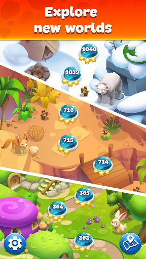 Gemmy Lands: Gems and New Match 3 Jewels Games apkslow screenshots 5