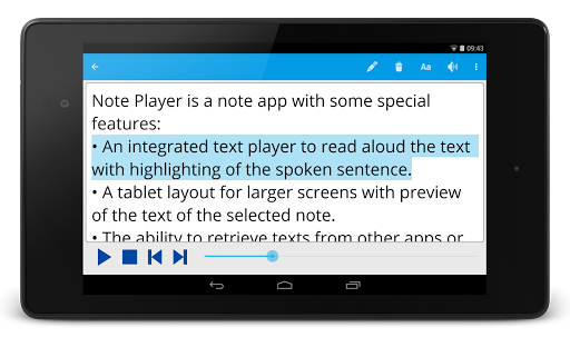 Note Text Player (Read aloud) For PC Windows (7, 8, 10, 10X) & Mac Computer Image Number- 11