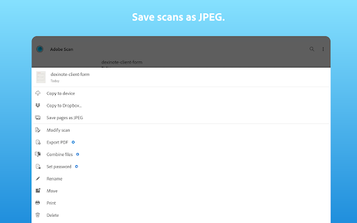 Adobe Scan: PDF Scanner with OCR, PDF Creator android2mod screenshots 10