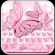 Pink Diamond Butterfly Keyboard