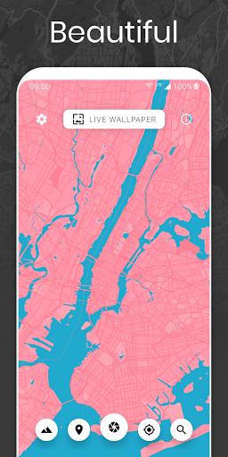 Cartogram - Live Map Wallpapers & Backgrounds modavailable screenshots 2