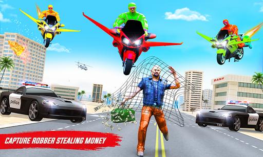 Superhero Flying Bike Taxi Driving Simulator Games 11 Screenshots 6