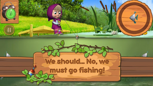 Masha and the Bear: Kids Fishing  screenshots 13
