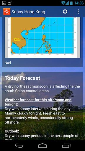 sunny hk -weather&clock widget screenshot 2