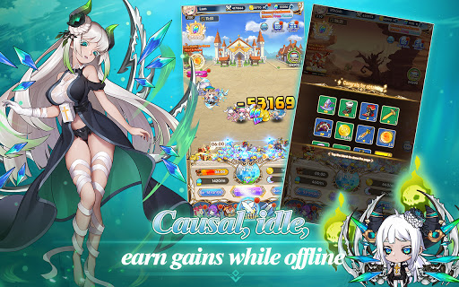 Idle Goddess-Best Idle RPG apkpoly screenshots 3
