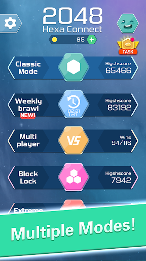 Merge  Block Puzzle - 2048 Hexa modavailable screenshots 9