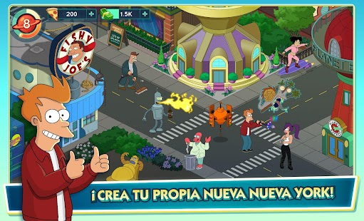 Futurama: Mundos del Mañana Screenshot