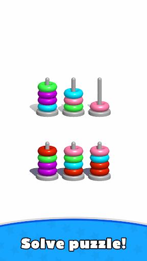 Sort Hoop Stack Color - 3D Color Sort Puzzle apkslow screenshots 5