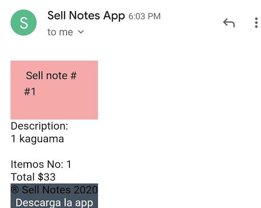 Sale notes  screenshots 8
