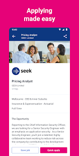 SEEK Job Search Screenshot