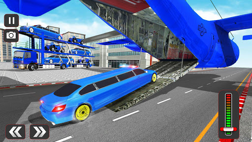 USA Police Car Transporter Games: Airplane Games  screenshots 5