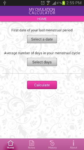 My Ovulation Calculator 3.4.3 screenshots 1