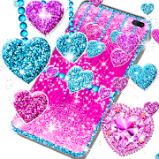 2021 Glitter hearts live wallpaper