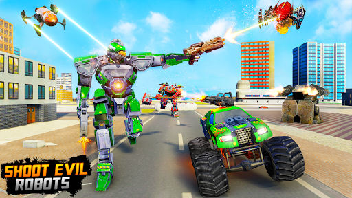 Monster Truck Robot Wars u2013 New Dragon Robot Game 1.0.6 screenshots 2