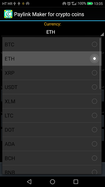 PayLink Maker for crypto currency coins screenshot 4