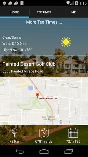 painted desert tee times screenshot 2