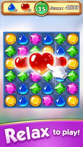 Jewel & Gem Blast - Match 3 Puzzle Game apkmartins screenshots 1