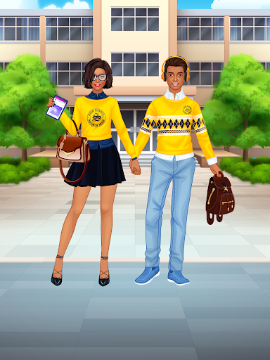 High School Couple: Girl & Boy Makeover 1.7 Screenshots 14