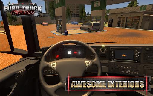 Code Triche Euro Truck Driver - 2018 (Astuce) APK MOD screenshots 4