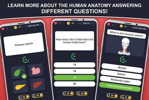 Anato Trivia -  Quiz on Human Anatomy 3.2.2 Screenshots 1
