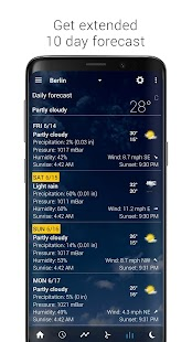 Transparent clock and weather - forecast and radar Screenshot