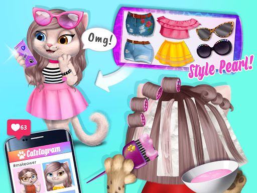 Amy's Animal Hair Salon - Cat Fashion & Hairstyles android2mod screenshots 23
