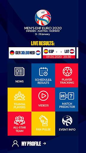 ehf euro 2020 screenshot 1