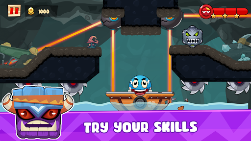 Ball's Journey 6 - Red Bounce Ball Heroes screenshots 5