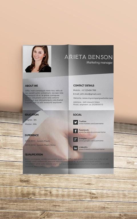 Resume Template, Resume Writer & Cover Letter  poster 12
