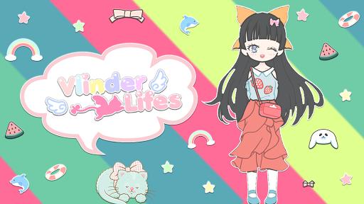 Vlinder Life: Dress up Avatar & Fashion Doll Games modiapk screenshots 1