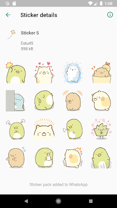 Sticker Sumikko Gurashi Terbaru forWAStickerAppsのおすすめ画像3