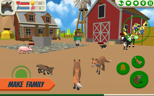 Fox Family - Animal Simulator 3d Game APK MOD – ressources Illimitées (Astuce) screenshots hack proof 2
