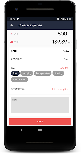 Currency: u2708ufe0fExchange rates, Travel accounting&tags 4.3.24 Screenshots 3