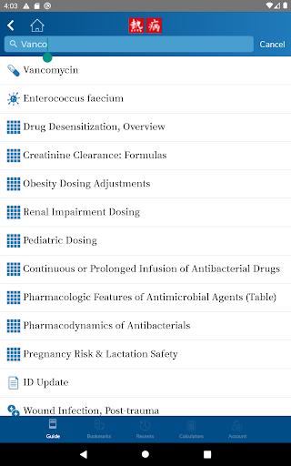 Sanford Guide:Antimicrobial Rx 4.2.15 Screenshots 12