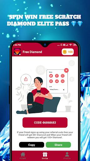 Free Diamond And Elite Pass Fire Maxud83dudc8e 1.0.3 screenshots 3