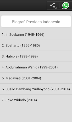 Biografi Presiden Indonesia screenshots 2