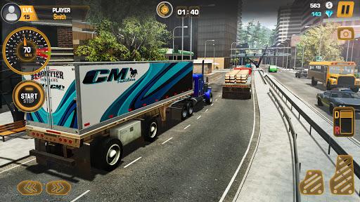 Heavy Truck Simulator USA: Euro Truck Driving 2021 android2mod screenshots 3