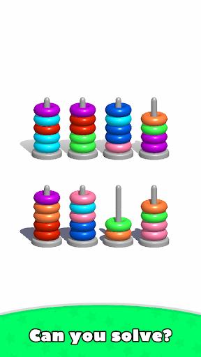 Sort Hoop Stack Color - 3D Color Sort Puzzle apkslow screenshots 8