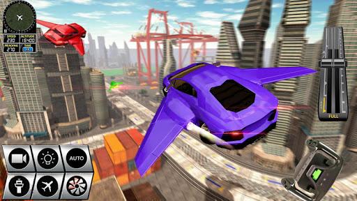 Futuristic Flying Car Racer  screenshots 1