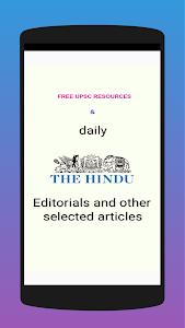 UPSC Resources : Hindu Editorials & Vocabs 1.24