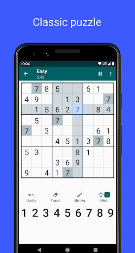 sudoku - free classic sudoku game screenshot 1
