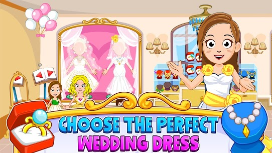 My Town : Wedding Bride Game for Girls Free (MOD, Unlimited Money) For Android 2