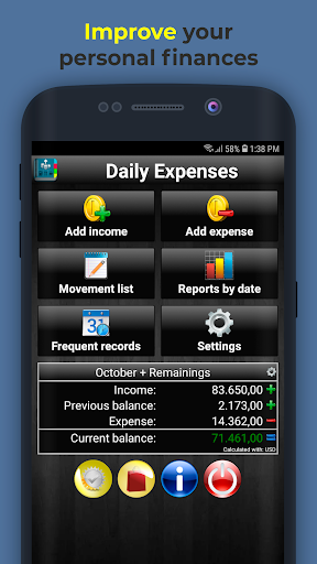 Daily Expenses 2: Personal finance  screenshots 1