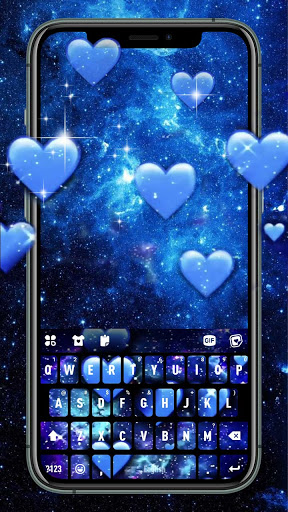 Blue Hearts Live Keyboard Background hack tool