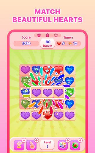 Match 3 Hearts - Romantic Puzzle Matching Game  screenshots 1